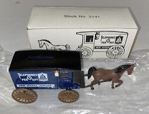 ERTL Horse Drawn Bell Telephone Logo Diecast Carriage Toy Bank #2141 Ser. 23540