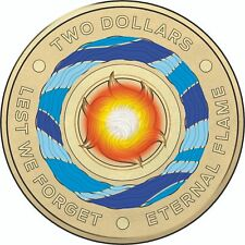 2018 Australia Lest We Forget - Eternal Flame $2 Coloured Coin
