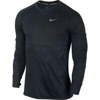 NIKE Men's Long-Sleeved Shirt Dri Fit Racer Black / Reflective Silver