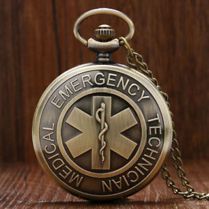 Star of Life EMT EMS Emergency Rescue Hospital Medical Nurse Pocket Watch Gift