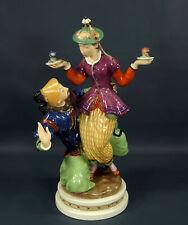 "Rare Vtg Royal Copenhagen Gerhard Henning Chinese Couple Figurine #2162 13""H"