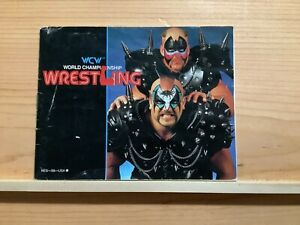 WCW World Championship Wrestling MANUAL ONLY NES