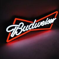 "NEON LIGHT BUDWEISER BUD LITE BEER BAR NASCAR DIECAST CAR MILLER NFL SIGN 13""x5"""
