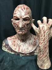"""Freddy Silicone Mask """"VS. Inferno"""" With Left Hand krueger WFX Special offer!"""