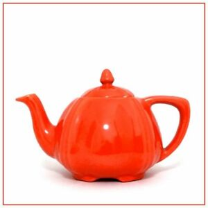 PADRE POTTERY <> Teapot #212 <> Uranium Orange Glaze <> Great Condition