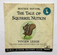 The Tale of Squirrel Nutkin - Beatrix Potter - Vivien Leigh - 7inch black vinyl