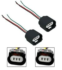 Wire Pigtail Female Ceramic 9008 H13 Two Harness Headlight Bulb Socket Connector