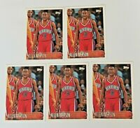 (Lot of 5x) ALLEN IVERSON 1996-97 Topps #171 Rookie Card Classic RC HOF HOT Card