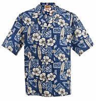 Big and Tall Hibiscus Surf Hawaiian Aloha Shirt