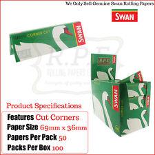 Swan Regular Green Cut Corners Cigarette Rolling Papers - 5000 Papers  Full Box