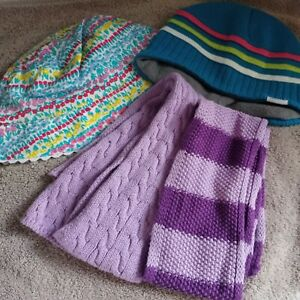John Lewis Summer Hat Small Toffee moon scarfs and trespass hat bundle