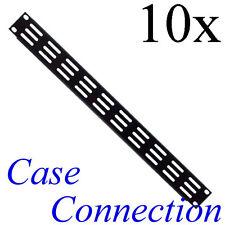 """10x 1HE Rackblende - Lüftungsschlitze - gekantet - Stahl 19"""" Frontplatte 19 Zoll"""