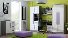 Jugendzimmer Kinderzimmer GRANT Set A 6-tg komplett 5 Farben Schrank Kommode NEU