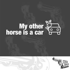 My other horse is a car - Funny sticker - 2x vinyl stickers 19cm wide