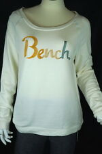New Bench Women Aberdeen Long Sleeve Cotton Overhead Cream White Tshirt Sz M
