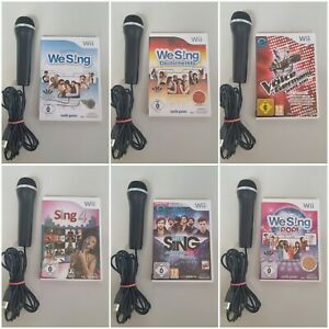 Nintendo Wii Spiele Karaoke We Sing Hits Party Dance Mikrofon Auswahl