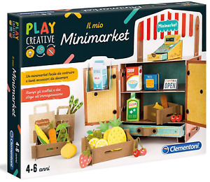 Clementoni Minimarket - Play Creative - Made From Recycled Materials Age 4+ SALE