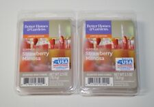 Better Homes & Gardens x2 Summer Strawberry Mimosa Scented Wax Cubes New 2.5 oz