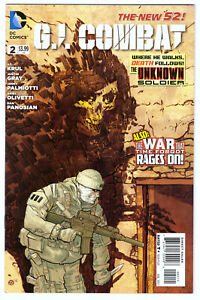 G.I. COMBAT #2 in VF/NM condition a DC WAR comic with dinosaur cover