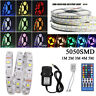 RGBW RGBWW SMD 5050 waterproof LED Strip light Kit+40KEY+12V 3A Power 1M-5M Set