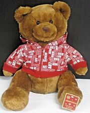 "Teddy Bear Red Hoodie Aeropostale Aero Holiday Brown Plush A87 2007 Gift 13"" NWT"