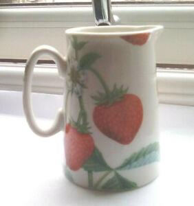 Large strawberry mini cream jug creamer milk pitcher 8cm by Heron Cross Pottery