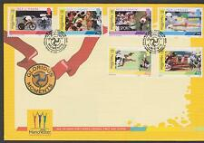 GB - ISLE of MAN 2002 Glorious Moments Commonwealth Games SG 976/81 FDC SPORTS