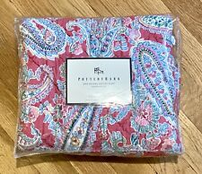 "New! POTTERY BARN JANE PAISLEY Quilted  Reversible SHAM  26"" X 26"""