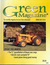 John Deere Green Magazine February 2010 Featured Models JD C & D Tractors