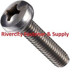 (50) 12-24x3/8 Phillips Pan Head Machine Screws Stainless Steel #12 x 3/8