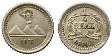 1/4 REAL. GUATEMALA. 1872.