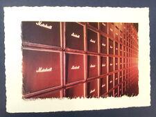. / anuncio hecho a mano la tarjeta de felicitación con Marshall Pila Rock N