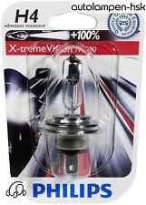 Philips H4 X-treme Vision MOTO 100% mehr Licht Power für Motorrad +ANGEBOT+