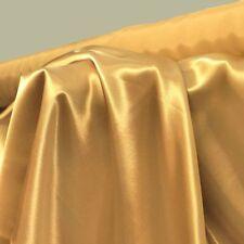 gold Glanz Satin Stoff Gardinenstoff Vorhangstoff Kleidung Dekostoff Hochzeit