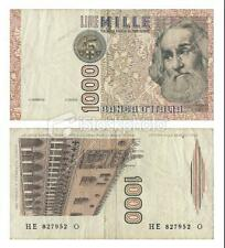 ITALY 1000 LIRE RARE OLD BANK NOTE WITH SOME WEAR AND TEAR # 320