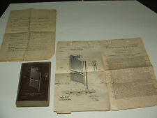 ORIGINAL 1903 United States Patent Office photograph submission w/letter A. Winn