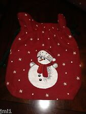 Villeroy & Boch CHRISTMAS EVE 2013 Embroidered Sack: Red Snowman #0019
