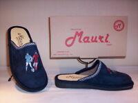 Ciabatte pantofole chiuse Mauri bimbo bambino invernali da casa blu 29 30 31 33