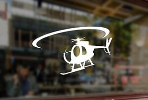 25cm Helicopter OH-6 Bell Vinyl Stickers Decals Car Auto Laptop Glass