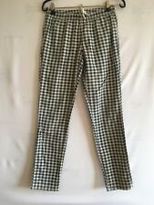 Checked black white cotton trousers S UK 8 US 4 Slim jeggings