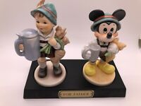 """Signed Rare MIB Limited Ed-Disney Goebel Hummel """"For Father"""" Mickey Mouse"""