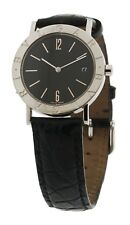 BULGARI Black Dial Watch BB33SLD 33mm MSRP $2550.00  Leather Strap