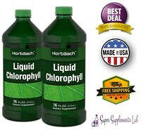 LIQUID CHLOROPHYLL 16 Oz 2 Pack 100 mg Energy Boost Immune Support Superfood