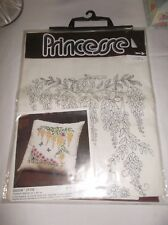 """Vintage Princesse Embroidery kit for a beautiful pillow """"Cytise"""", Nip, stunning!"""
