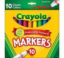 Crayola Classic Markers, Broad Line, 10 Pack