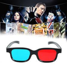 Red Blue 3D Glasses Black Frame for Dimensional Anaglyph TV Movie DVD Game