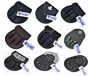 Scottish Men's Leather Kilt Sporran Various Styles Kilt Sporrans