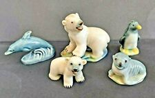 More details for wade whimsies arctic / sea animals, polar bears, dolphin, seal, penguin job lot
