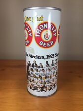 Vintage Pittsburgh Steelers 1975 Super Bowl Champs Iron City Beer Steel Can 16oz