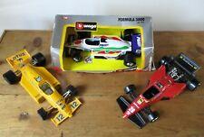 Collection Job Lot 3 Burago Ferrari 126 C4 Lotus 97 T Banespa Formula racing car